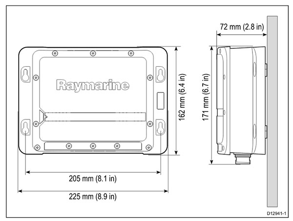 CP200 Dimensions | Raymarine