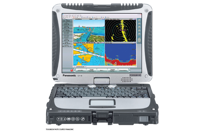 Raymarine RayTech Navigation Software on Panasonic Toughbook